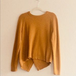 Madewell Mustard Cross-back Sweater